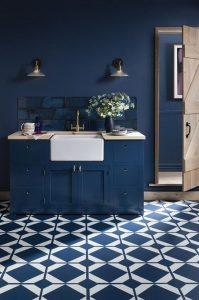 reformar baño azul